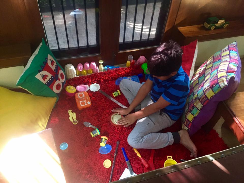 Imaad playing
